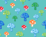 Color Me Fun - Mushroom Turquoise from Fabric Editions