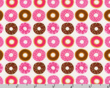 Suzy's Minis 2 - Donuts Sweet Pink Brown by Suzy Ultman from Robert Kaufman