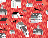 Folk Art Fantasy - Red Houses by Amanda Murphy from Contempo Studio