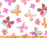 Painted Wings - Butterfly Pink Coral by Whistler Studios from Windham Fabrics
