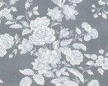 Shades of Rose - Grey Toile Rose from Free Spirit