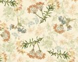 Oak Avenue - Oak Florals Cream from David Textiles