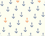 Saltwater - Anchors Aweigh DOUBLE GAUZE by Emily Winfield Martin from Birch Fabrics
