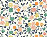 The Hidden Garden - Roses Cream DOUBLE GAUZE by Miriam Pos from Birch Fabrics