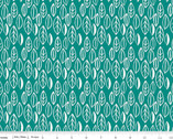 Curiosities - Leaves Teal by Amanda Herring from Riley Blake