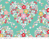 Forget Me Not - Main Green Teal by Tammie Green from Riley Blake