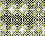 Citron Twist - Geo Trellis Citrus by Kanvas from Benartex