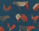 Fourth On The Farm - Animal Blue from Robert Kaufman