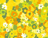 Laurel - Garden Floral Green Yellow from Robert Kaufman