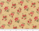 Courtyard - Rose Floral Buds Ecru Natural by 3 Sisters from Moda