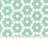 Handmade - Hexagons Aqua by Bonnie and Camille from Moda