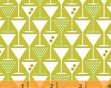 Martini - Glasses Olive Green by MY KT from Windham Fabrics