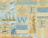 Tall Ships - Collage by Whistler Studios from Windham Fabrics