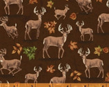 Forest - Deer Brown by Whistler Studios from Windham Fabrics
