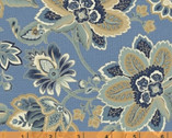 Isadora - Jacobean Floral Light Blue by Rosemarie Lavin from Windham Fabrics