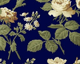 Evelyn - Main Floral Navy by Whistler Studios from Windham Fabrics