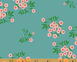 Maribel - Dot Floral Turquoise by Annabel Wrigley from Windham Fabrics