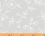 Grace II - Floral Vine Gray by Whistler Studios from Windham Fabrics