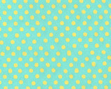 Color Basic - Teal Yellow Small Polka Dot from Lecien