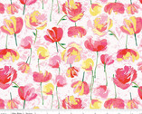 Paige's Passion - Passion Toss Floral Pink by Lila Tueller from Riley Blake