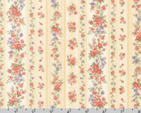 Sevenberry Petite Victoriana - Stripe Floral Natural from Robert Kaufman