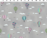 All Afloat - Hot Air Balloons Taupe from Clothworks