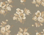 Cottage Whites - Grey Floral from Red Rooster