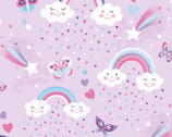Unicorn Kisses - Rainbows Lavender Purple from Studio E
