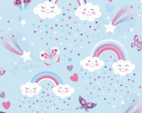Unicorn Kisses - Rainbows Blue from Studio E
