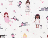 Twinkle Fairies - Sprinkle Sprinkle Little Stars Sparkle Pink from Michael Miller