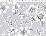 Lilliana - Gray Floral by Skipping Stones Studio from Clothworks