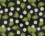 From the Farm - Strawberry Blossoms Black by Kris Lammers from Maywood Studio
