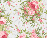 Roses and Heather - Roses Bouquet Soft Grey by Jennifer Bosworth from Maywood Studio