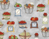 From the Farm - Gathered Produce Grey by Kris Lammers from Maywood Studio