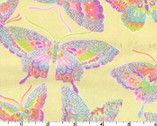 Glitter FLANNEL - Butterfly Yellow from EE Schenck