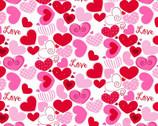 Pink Hearts Love from EE Schenck