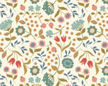 Chieveley Metallic - Country House Floral Cream from Lewis and Irene