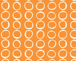 Summer '62 - Bubbles Orange by Jay-Cyn Designs from Birch Organic Fabric