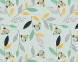 Songbirds - Floral Turquoise from 3 Wishes Fabric
