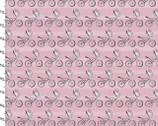 Playday - Bikes Floral Pink from 3 Wishes Fabric
