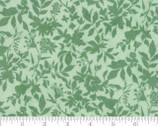 Meraki - Shaka Feldspar Floral Leaf Green by BasicGrey from Moda