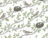 Nest - Birdsong White by Leila Boutique from Moda