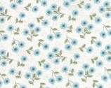 Nest - Floral Classic Blossom Aqua Blossom by Leila Boutique from Moda