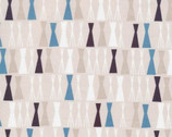 Sow and Sew - Pea Sticks Blue Gray by Eloise Renouf from Cloud 9 Fabrics