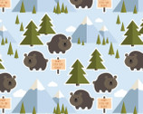 Let's Go Camping - Bears Blue from Patrick Lose Fabrics