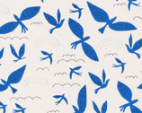 No Place Like Home - Blue Birds Fly by Leah Duncan from Cloud9 Fabrics