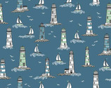 Beachcombers - Lighthouses Blue from Andover-Makower