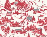 Winter Berries - Winter Village Crimson  from Andover