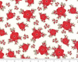 Return To Winters Lane - Floral Burst Snow Red by Kate and Birdie from Moda