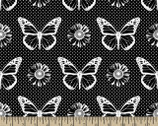 Basically Black and White - Butterfly Black from Patrick Lose Fabrics